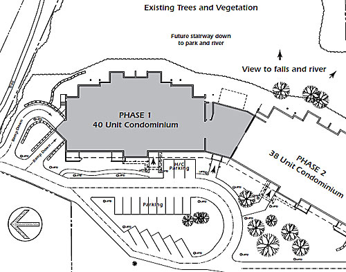 Siteplan for legends at The Falls Phase I